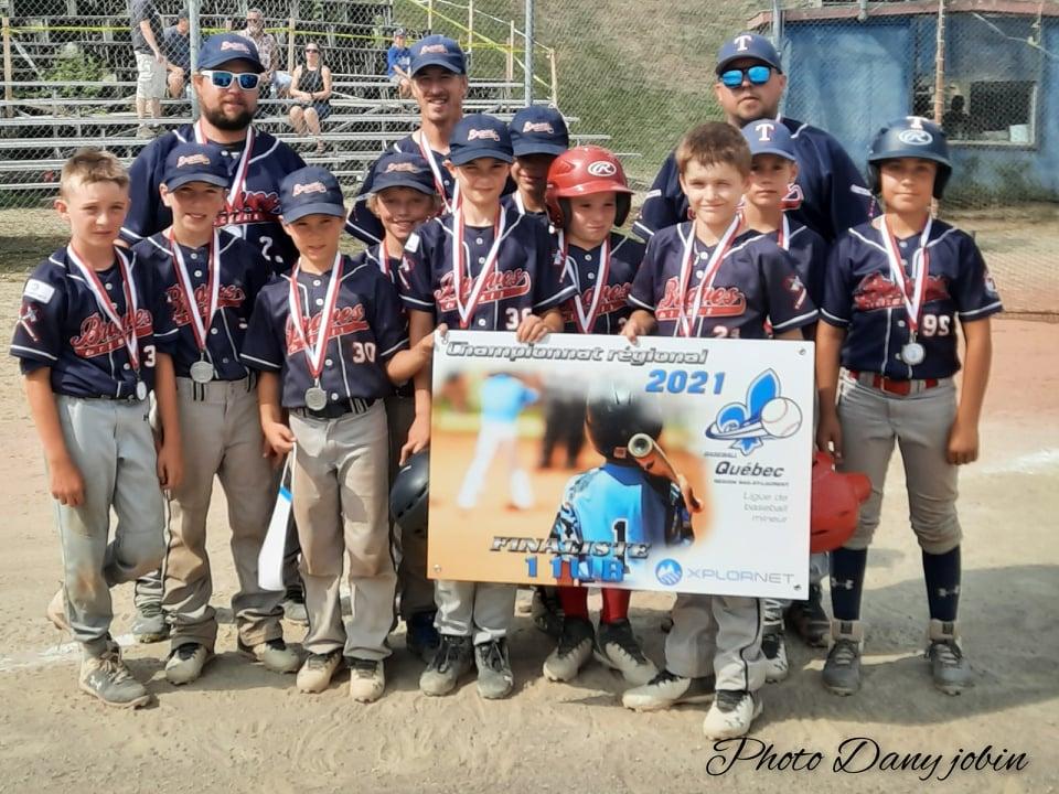 Photo Championnat regionaux 11U B 2e place Temiscouata